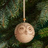 Bloomingdale's Wood Owl Ball Ornament - 100% Exclusive