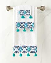 John Robshaw Aloka Blue Bath Towel