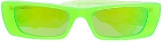 Gucci Rectangular Frame Tinted Sunglasses