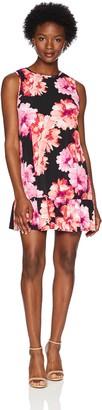 Tiana B T I A N A B. Women's Petite Floral Jersey a-line Swing Dress