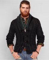 Denim & Supply Ralph Lauren Men's Cable Knit Shawl Cardigan