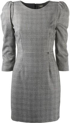 Liu Jo Plaid-Check Fitted Dress