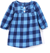 Sweet & Soft Blue Plaid Button-Front Dress - Infant & Toddler