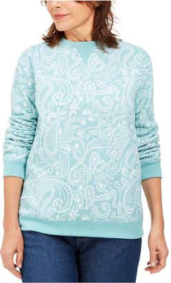 Karen Scott Paisley Fleece Sweatshirt