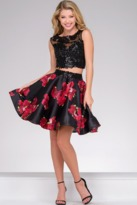 Jovani Cute Two-Piece Crop Top Cocktail Dress 47320