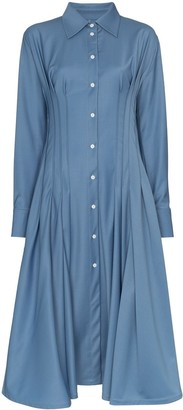 Anouki gathered-waist shirt dress