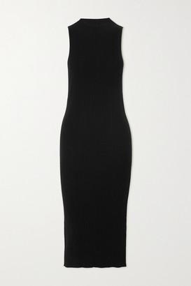 Ninety Percent Ribbed Tencel-blend Midi Dress - Black
