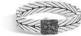 John Hardy Women's Modern Chain 13MM Bracelet in Sterling Silver with Black Sapphire
