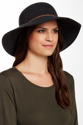 Phenix Round Crown Floppy Wool & Leather Hat