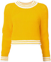Milly fisherman knit sweater - women - Cotton/Polyimide - S