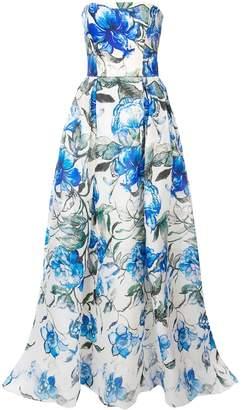 Carolina Herrera floral strapless gown