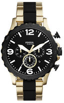 Fossil Nate Stainless Steel Bracelet Watch