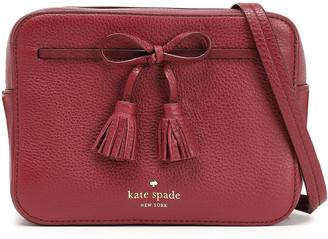 Kate Spade Bow-embellished Textured-leather Shoulder Bag