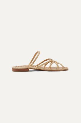 Carrie Forbes Noura Braided Raffia Sandals - Beige