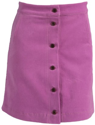 Relax Baby Be Cool Ribbed Corduroy High Waist Button Up Mini Skirt - Pink