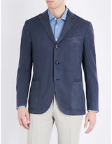 Boglioli Herringbone Regular-fit Wool Jacket