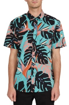 Volcom Men's Mentawais Fern Short Sleeve Shirt