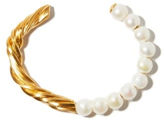 COMPLETEDWORKS The State We're In Pearl & 14kt Gold-vermeil Cuff - Pearl
