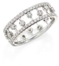 De Beers Dewdrop Diamond& 18K White Gold Ring