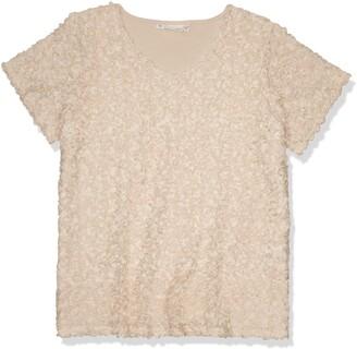 Junarose Women's Plus Size Jinga Short Sleeve Blouse