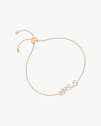 Ef Collection Mrs Initial Bolo Bracelet