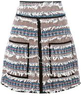 See by Chloe tweed fringed skirt - women - Cotton/Acrylic/Polyamide/other fibers - 40