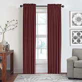 Veratex Contemporary Luxury 100% Cotton Velvet Made in the USA Any Room Rod Pocket Fastener Window Panel, 120-Inch, Berry