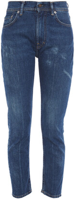 Acne Studios Cropped Faded High-rise Slim-leg Jeans