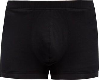 Hanro Sporty Cotton Trunks - Mens - Black