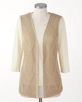 Coldwater Creek Diamond stitch vest