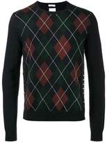 Valentino argyle crew neck sweater