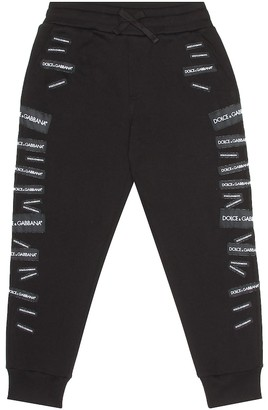 Dolce & Gabbana Kids Logo cotton trackpants
