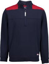 Vineyard Vines Men's Pullover Sweaters 3694 - Vineyard Navy Color Block Shep Half-Zip Pullover - Men