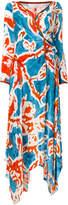 Peter Pilotto batik print wrap midi dress