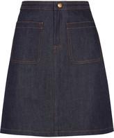 A.P.C. Denim Mini Skirt - Dark denim