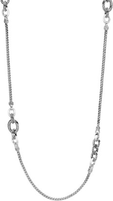 John Hardy Classic Chain Sterling Silver Knife Edge Sautoir Necklace