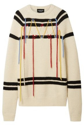 Calvin Klein Embroidered Striped Wool Sweater