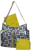 Orla Kiely Two Pocket Diaper Bag - Gray Floral Print