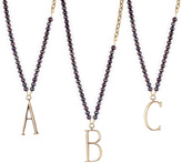 Lulu Frost Plaza Letter Necklace - Black Pearl Chain