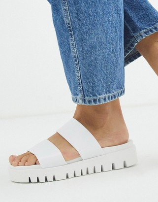 ASOS DESIGN Fletch chunky jelly flat sandals in white
