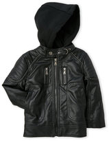 Urban Republic Toddler Boys) Faux Leather Hooded Jacket