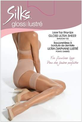 Silks Gloss Ultra Sheer Lace Top Stay-Ups