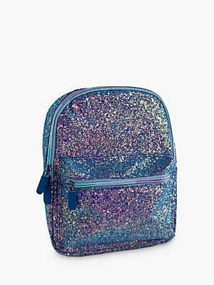Speakmark Small Glitter Lunch Backpack Bag, Peacock/Multi