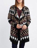 Charlotte Russe Aztec Cascade Open Cardigan