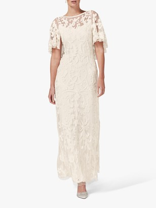 Phase Eight Avianna Tapework Wedding Dress, Parchment
