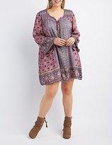 Charlotte Russe Plus Size Boho Print Shift Dress