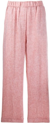 Peserico elasticated wide trousers