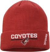 Reebok Men's Garnet Arizona Coyotes Center Ice Locker Room Cuffed Knit Hat