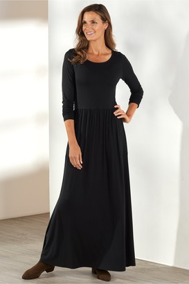 Soft Surroundings Petites Verdot Maxi Dress