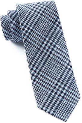 Tie Bar Huntington Plaid Light Blue Tie